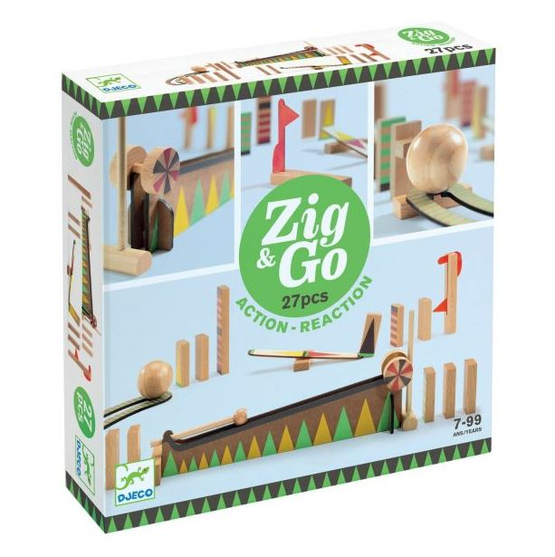 Djeco, Zig & Go, 27 Pieces