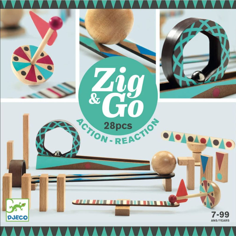 Djeco, Zig & Go, 28 Pieces