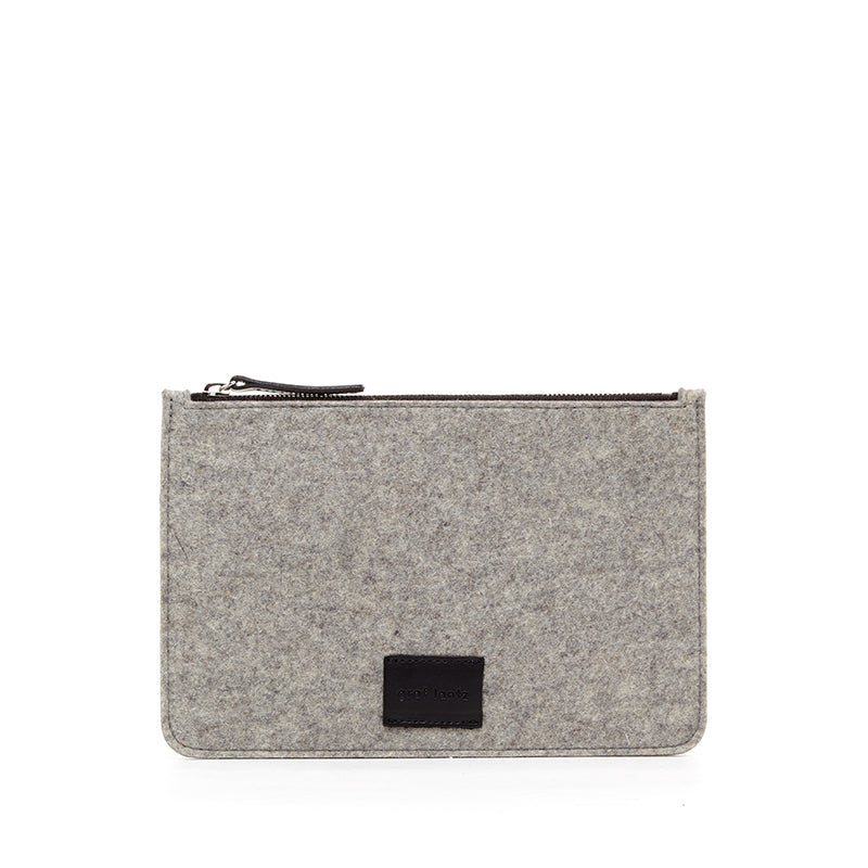 Large Felt Pouch Granite