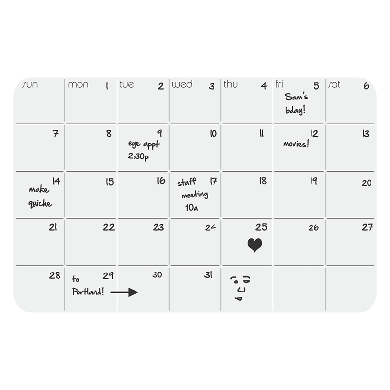up·date!™ Silicone Monthly Planner