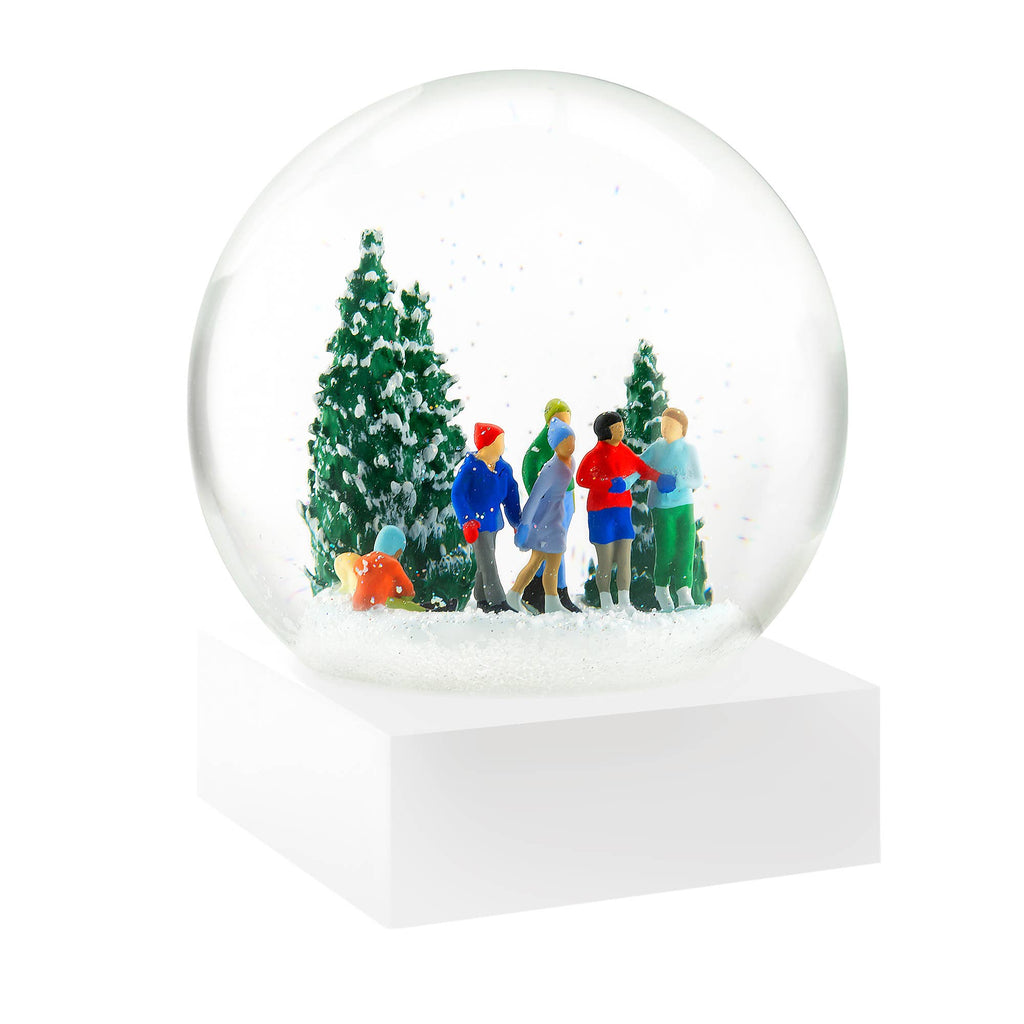 ice skaters, cool snow globes