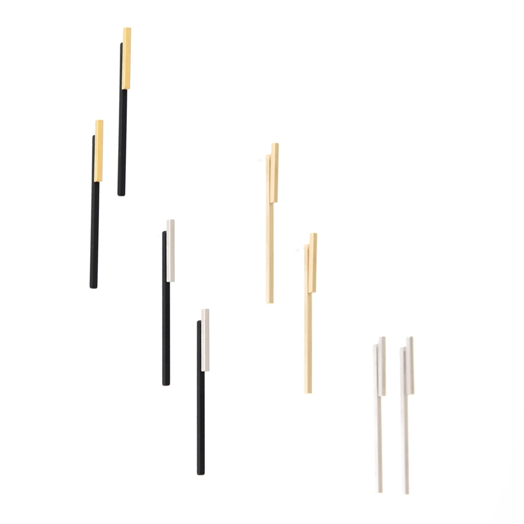 Pursuits Forty-Sixty Ear Jackets, Gold Black