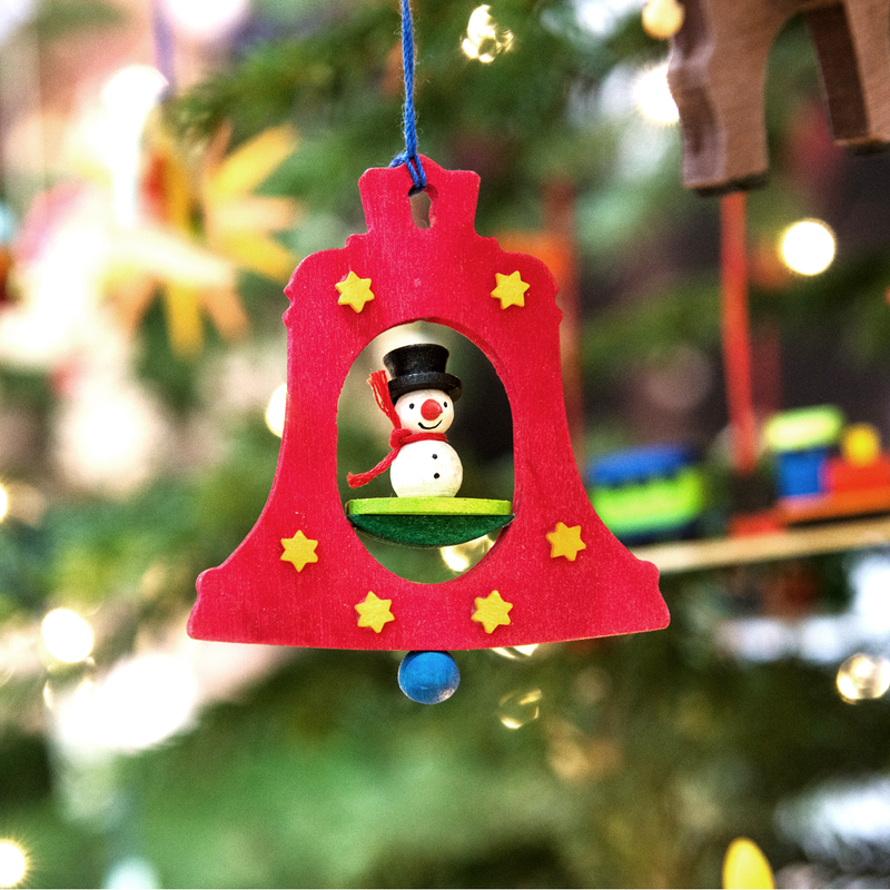 Graupner Bell Ornament  with Striezel Boy