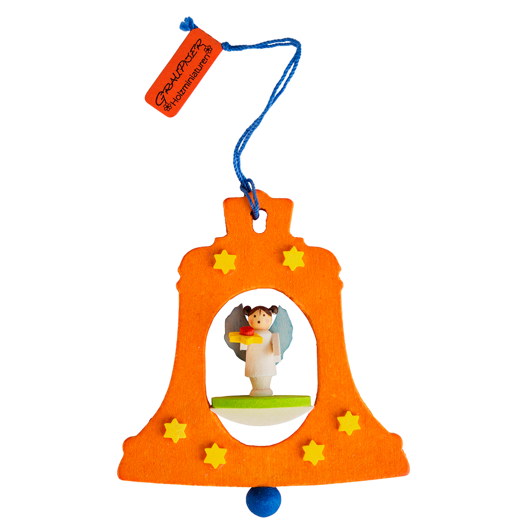 Graupner Bell Ornament Orange with Angel