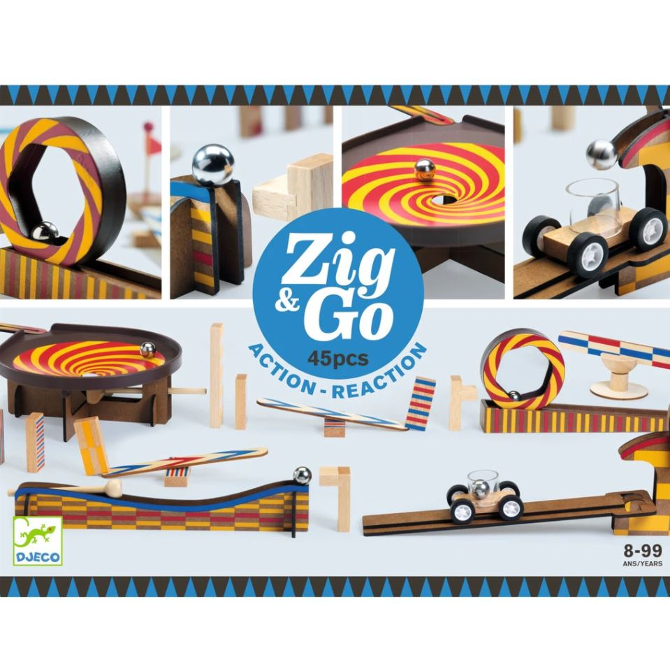 Djeco, Zig & Go, 45 Pieces