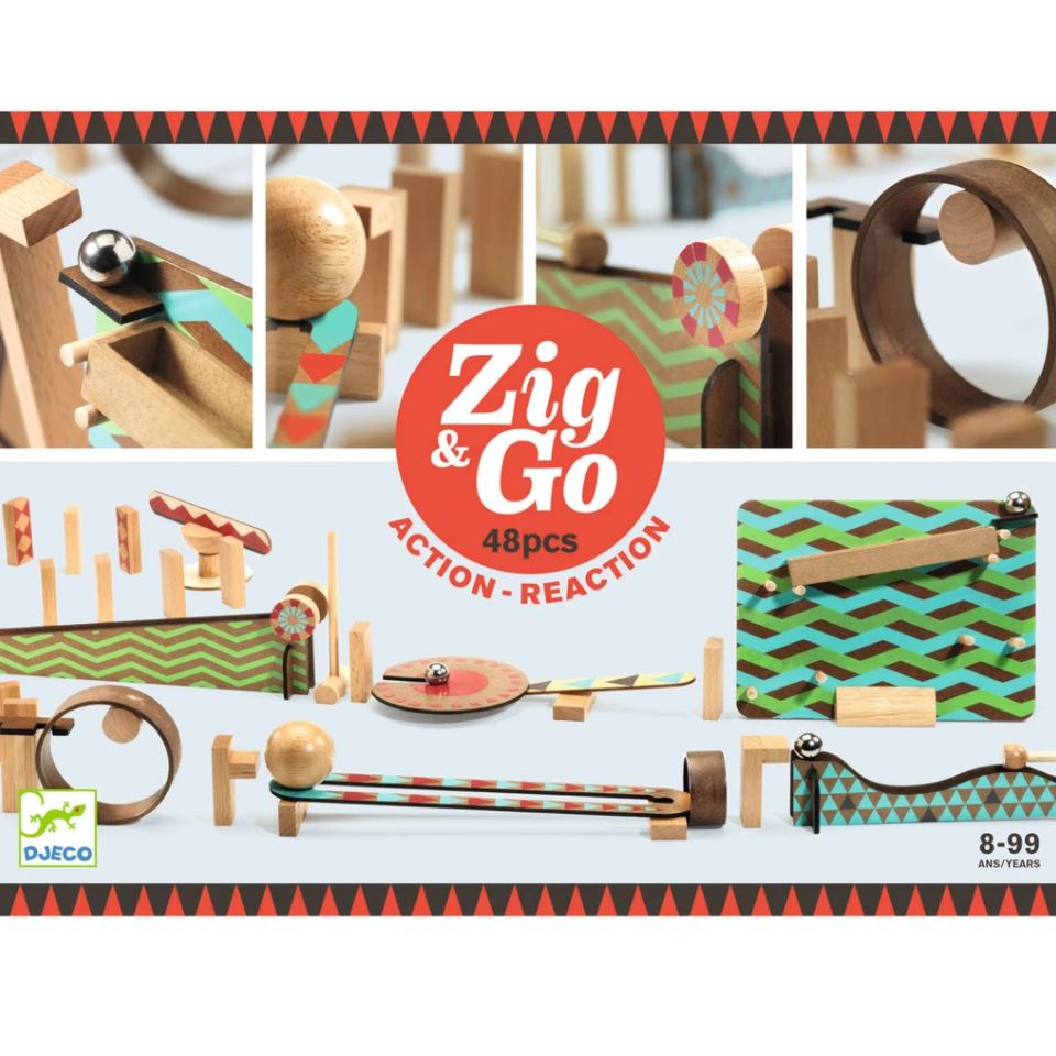 Djeco, Zig & Go, 48 Pieces