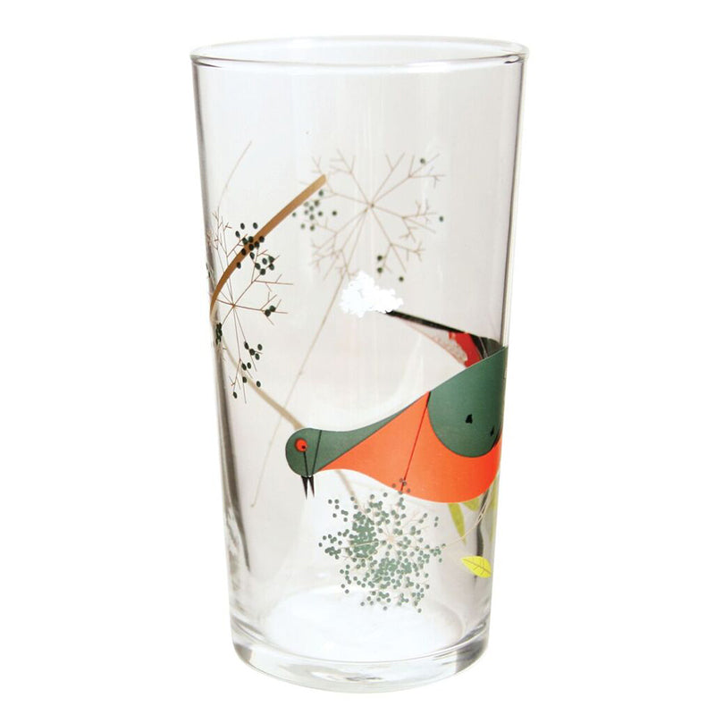 Harper + Oldham Red Birds Glasses Set of 4
