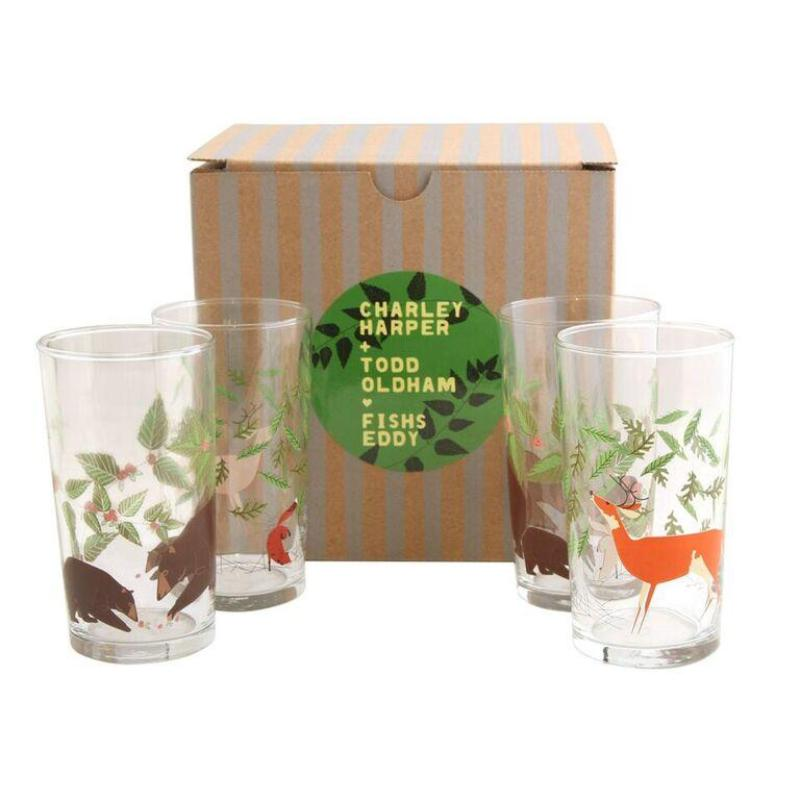Harper + Oldham Great Outdoors Glasses Set of 4