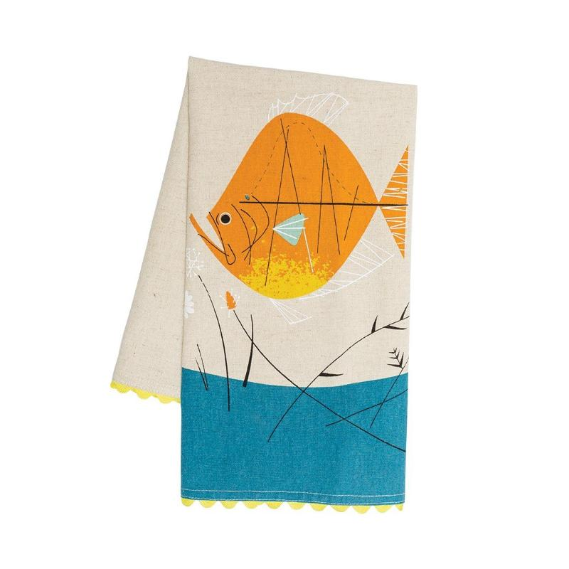 Harper + Oldham Fish & Flowers Dish Towel