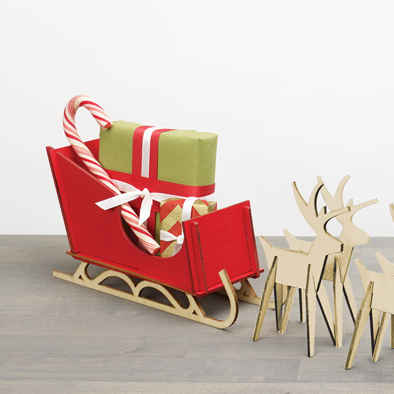 Alpine™ Sleigh and Reindeer