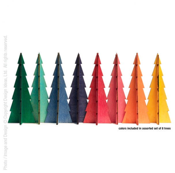Tannenbaum Trees, Assorted Small Set of 9 - Mod Colors