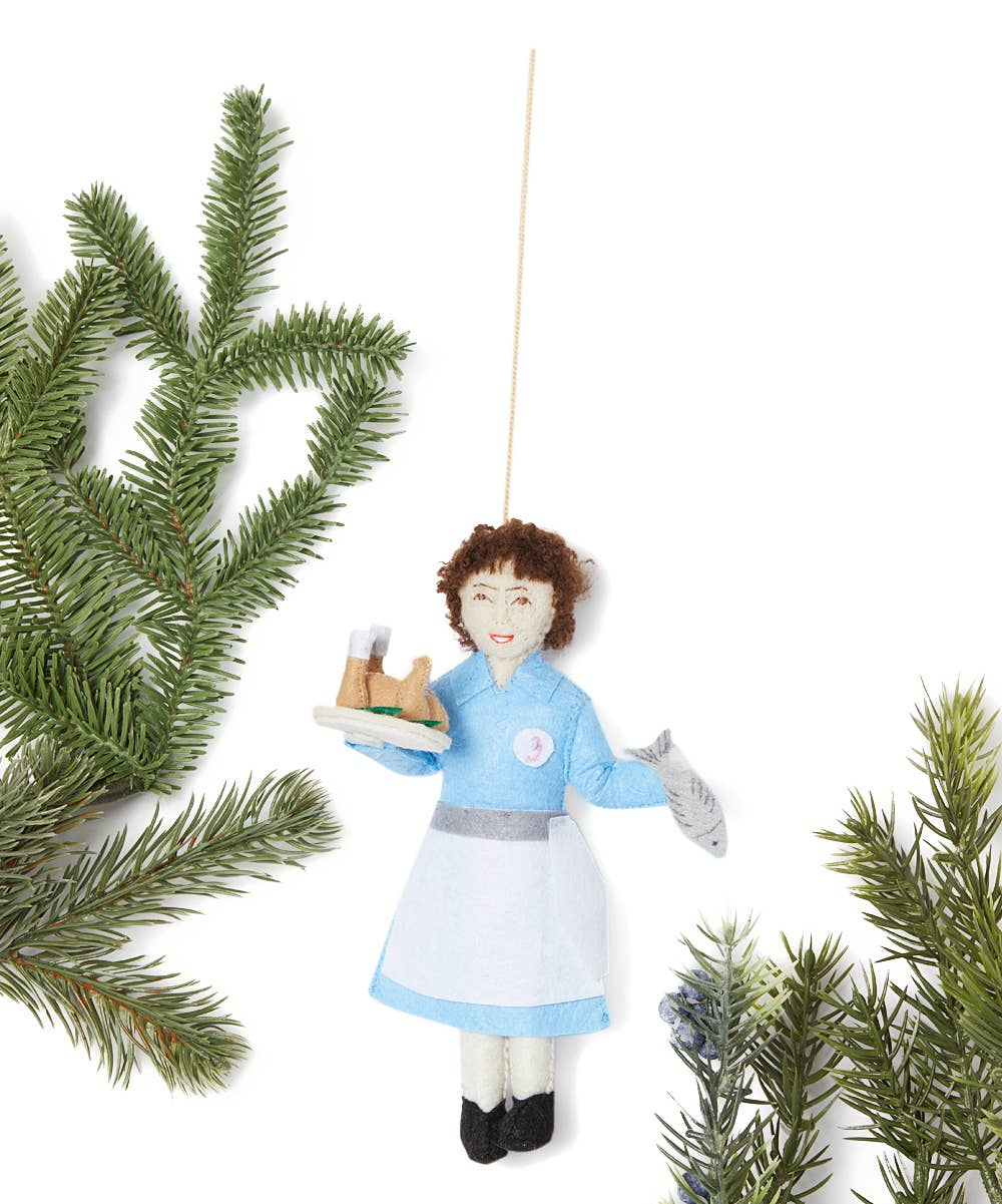 Julia Child Felt Ornament