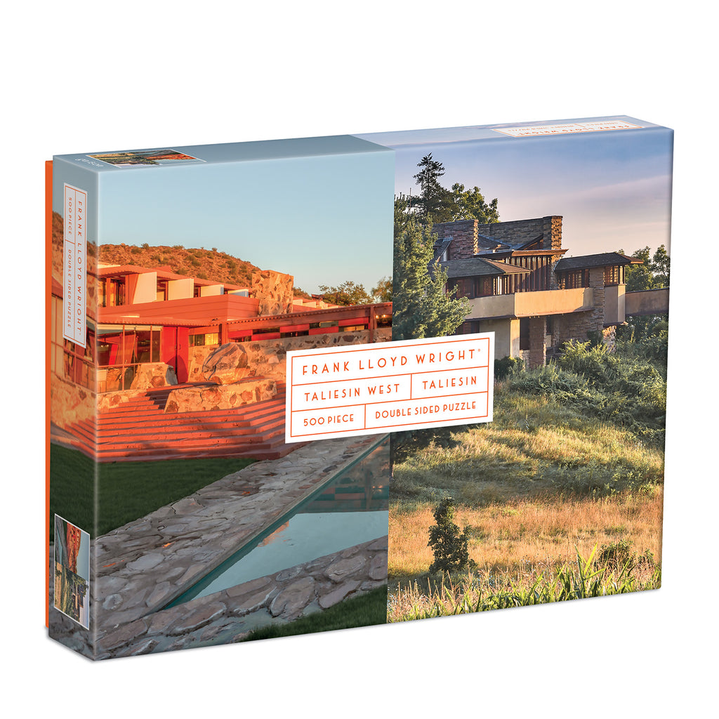 Taliesin And Taliesin West, Frank Lloyd Wright, 500 Piece Double Sided Puzzle