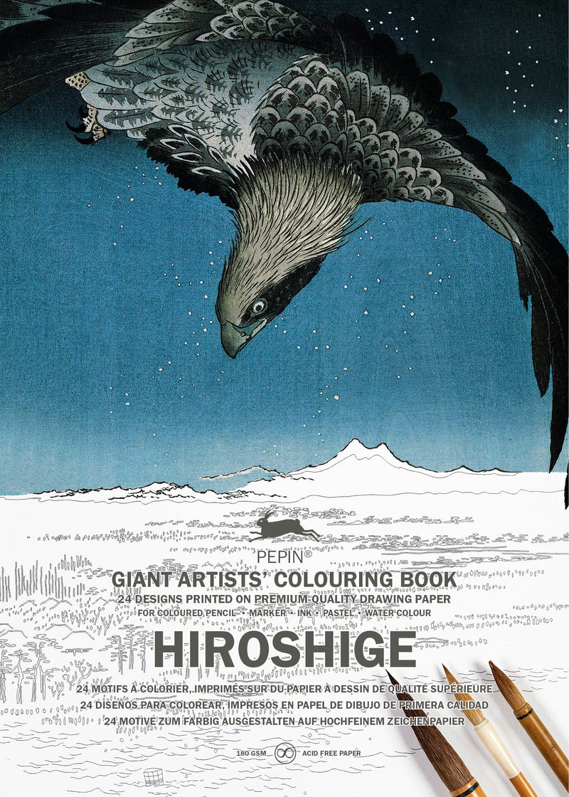 Pepin Press Hiroshige Giant Artists Coloring Book
