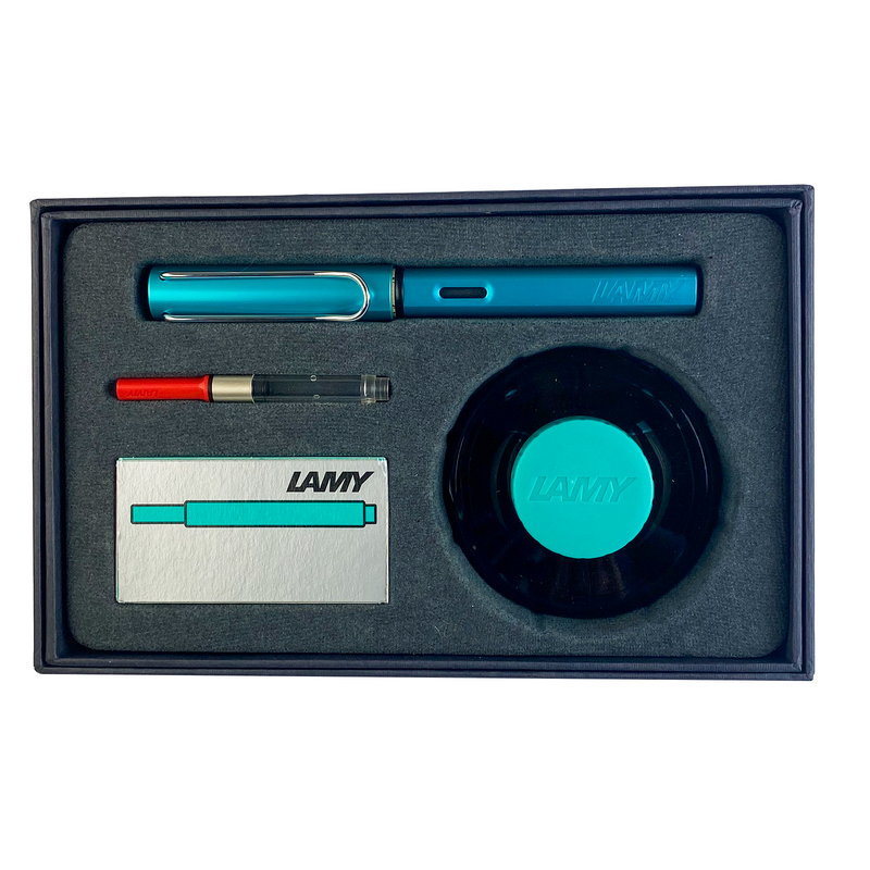 Lamy, Gift Set! Al-Star Fountain Pen in Turmaline