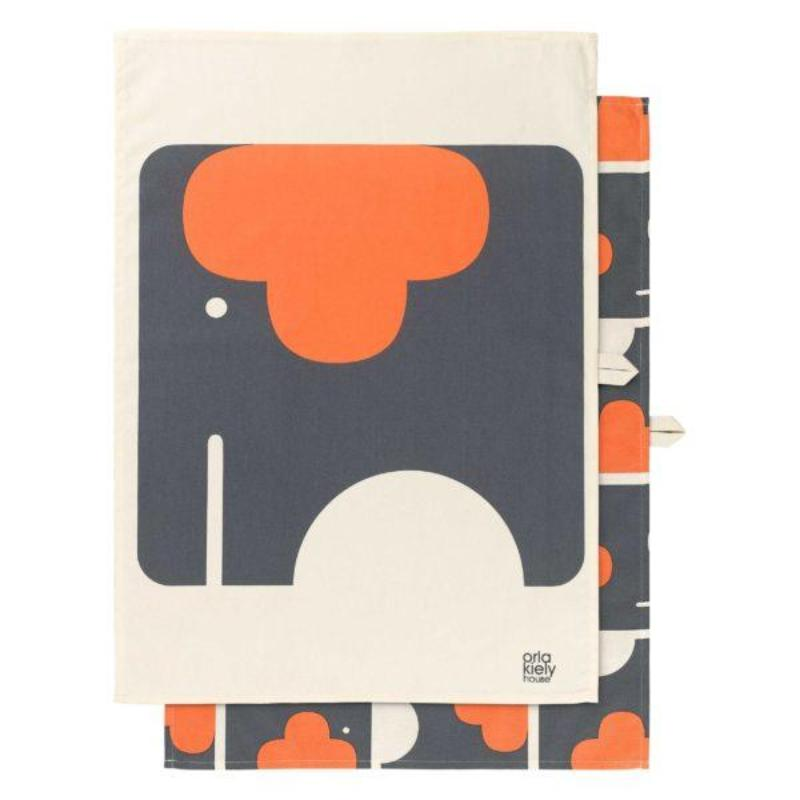 Elephant Tea Towel - Set of 2