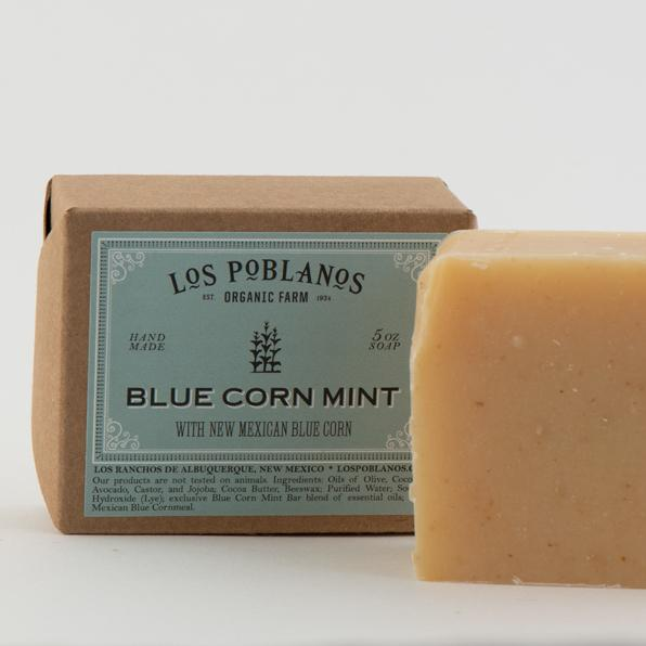 Blue Corn Mint Handmade Soap Bar