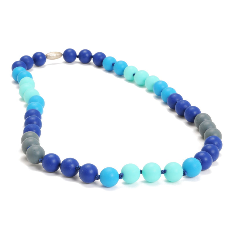 Bleecker Teething Necklace in Turquoise by Chewbeads