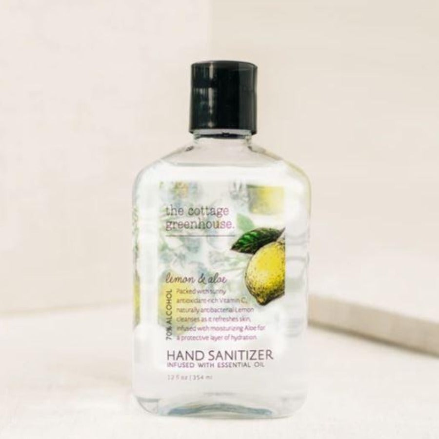 Cottage Greenhouse, Lemon & Aloe Hand Sanitizer Gel
