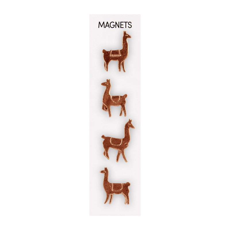 Three by Three Cast Animal Magnets - Llama Cooper