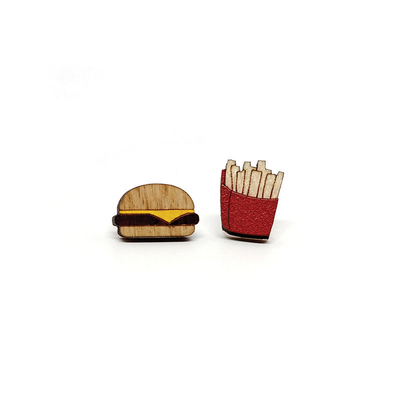 Unpossible Cuts, Burger and Fries Earrings