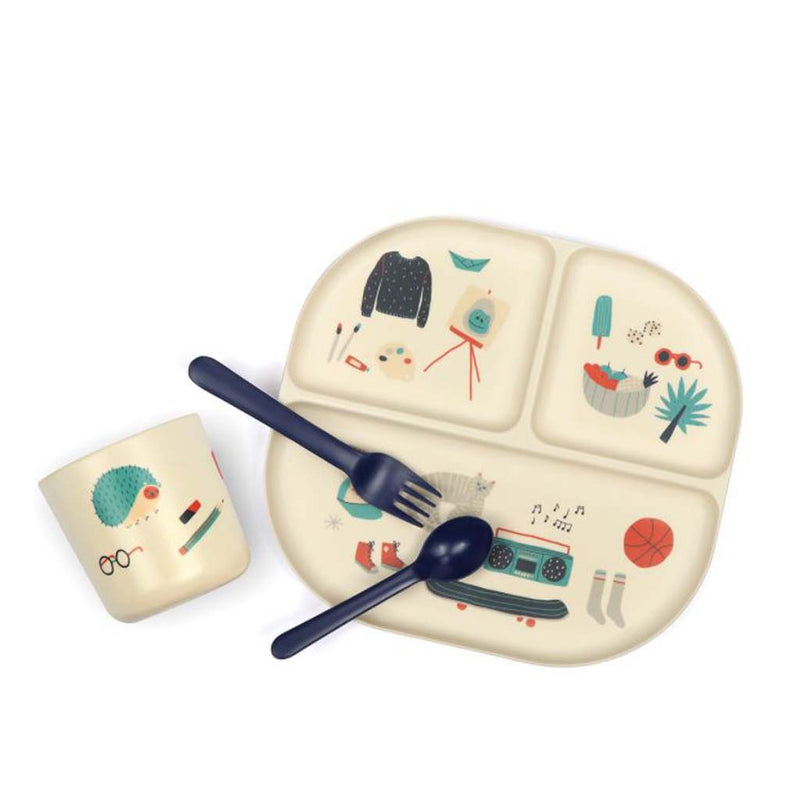 Bamboo Kids Dinner Set in Royal Blue