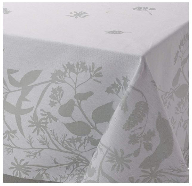 Le Jacquard Francais, Herbes Folles in Grey, Table Runner