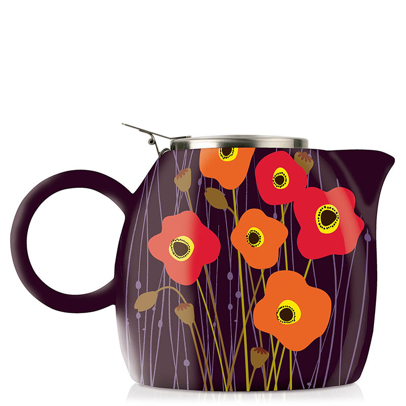 Tea Forte, Pugg Teapot & Infuser - Poppy Fields