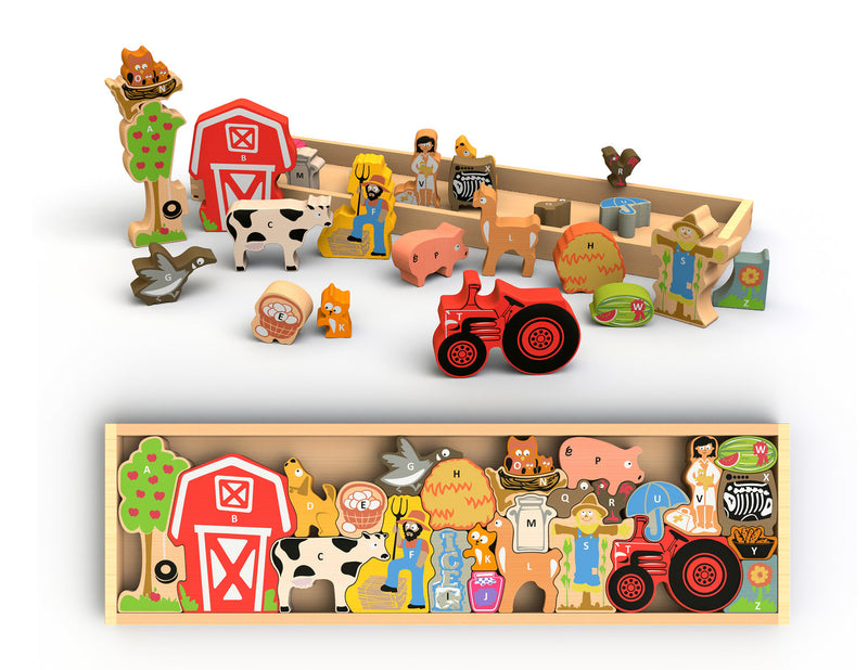 Begin Again Toys, Farm A to Z puzzle & playset
