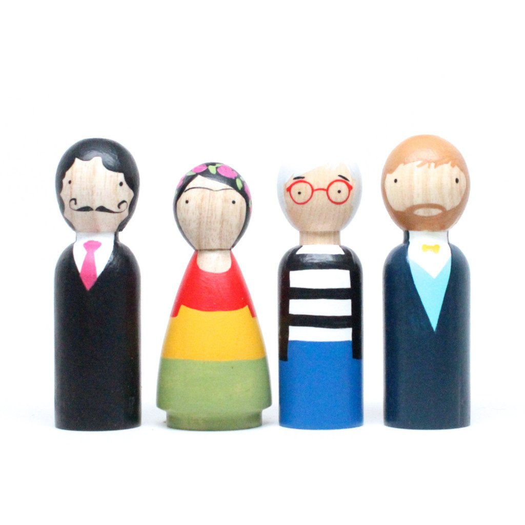 The Modern Artists Peg Dolls
