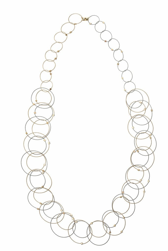 Meghan Patrice Riley Interlock Circles Necklace