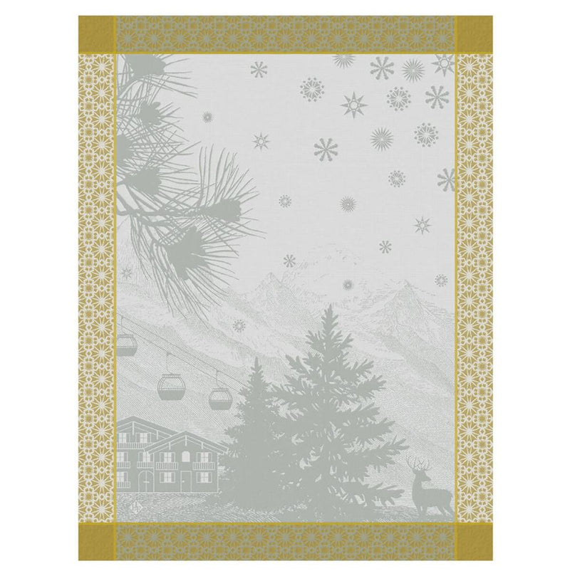 Le Jacquard Francais, Sommets Enneigés / Snow Capped Peaks - Tea Towels in Snow