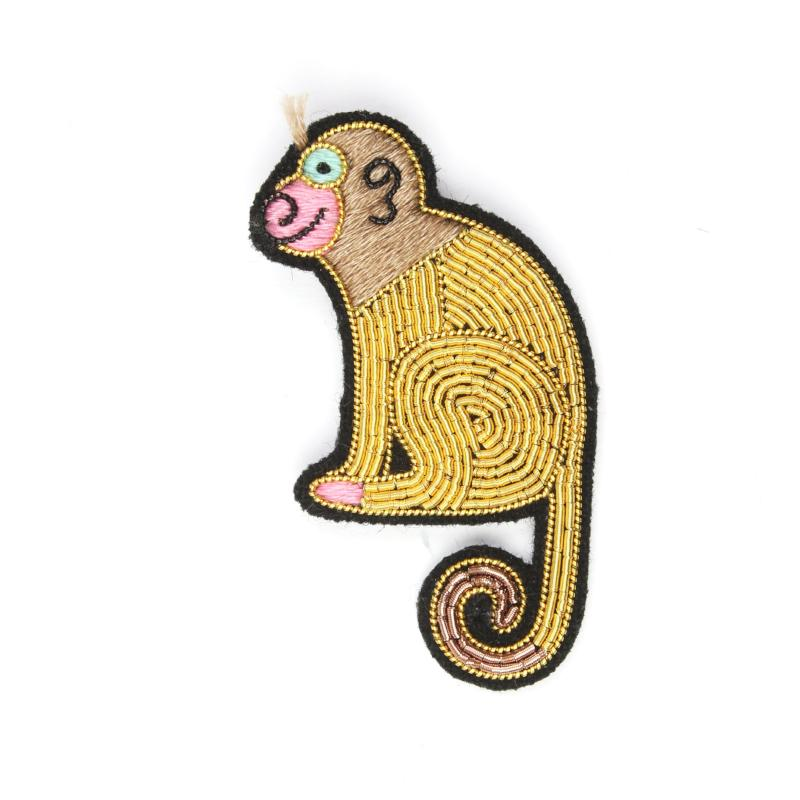 Embroidered Pin: Monkey