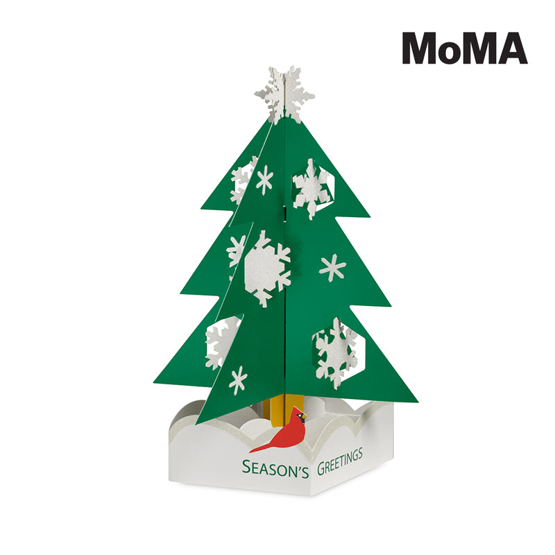 MoMA Snowy Pine Holiday Cards, Boxed Set of 8