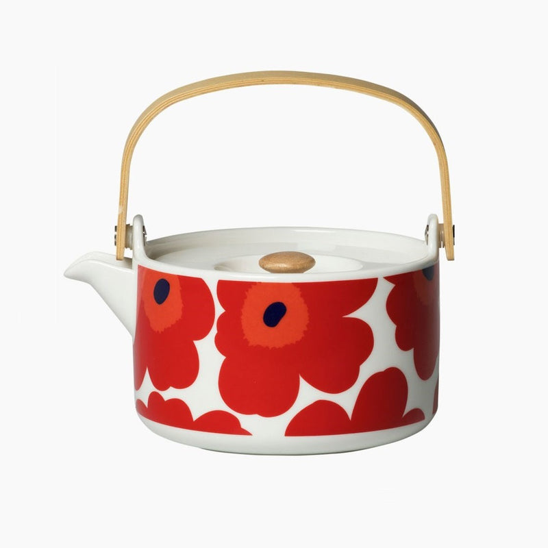 Marimekko, Unikko Teapot in Red and White