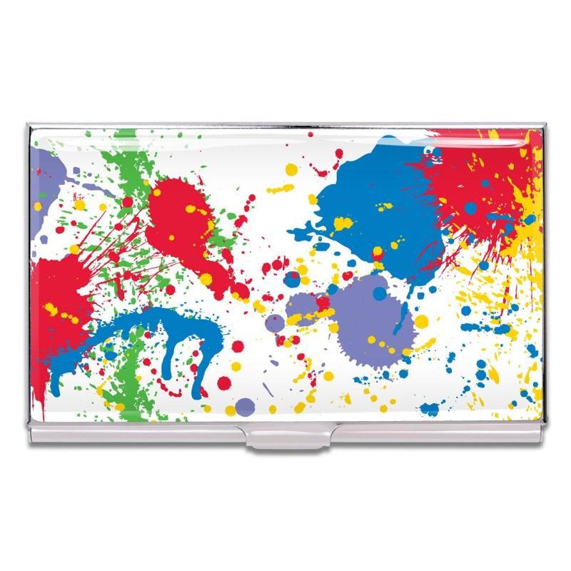 """Paint Splash"" Card Case by Norman Moore"