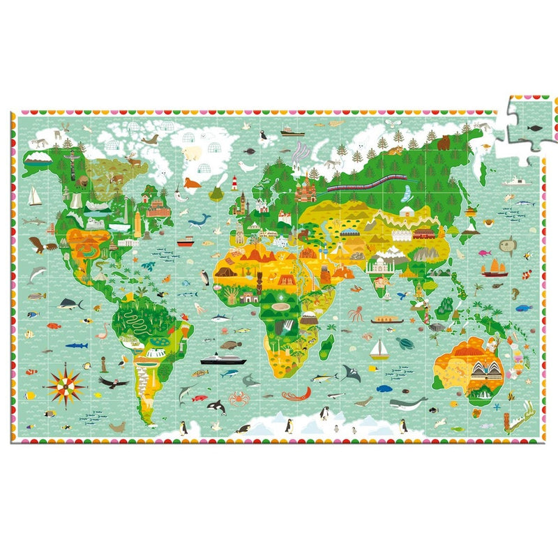 Observation Around the World Puzzle