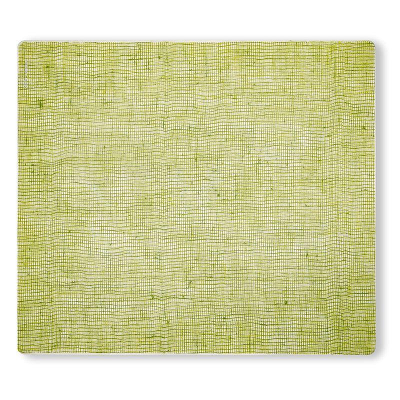 Linen Placemat - Green Apple