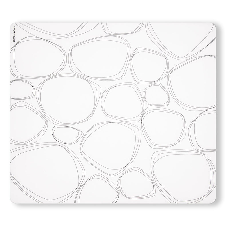 Modern Twist Pebbles Placemat - Black