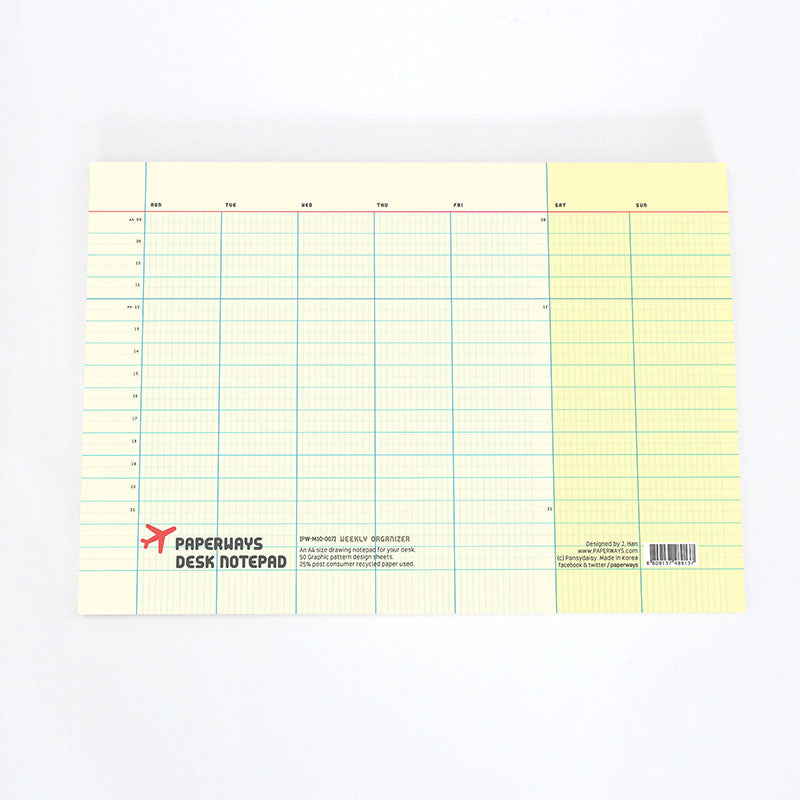 Paperways, Weekly Organizer Notepad