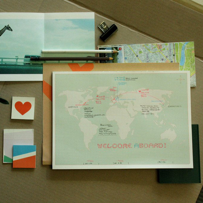 Paperways, World Map Notepad