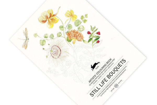 Pepin Press, Still Life Bouquets Artists' Colouring Book