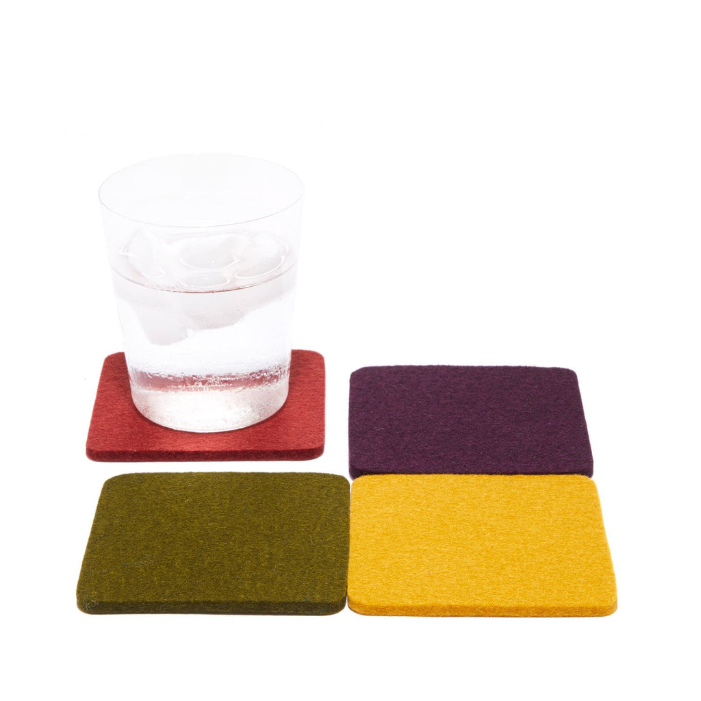 Provence Bierfilzl Square Multi-Color Coasters