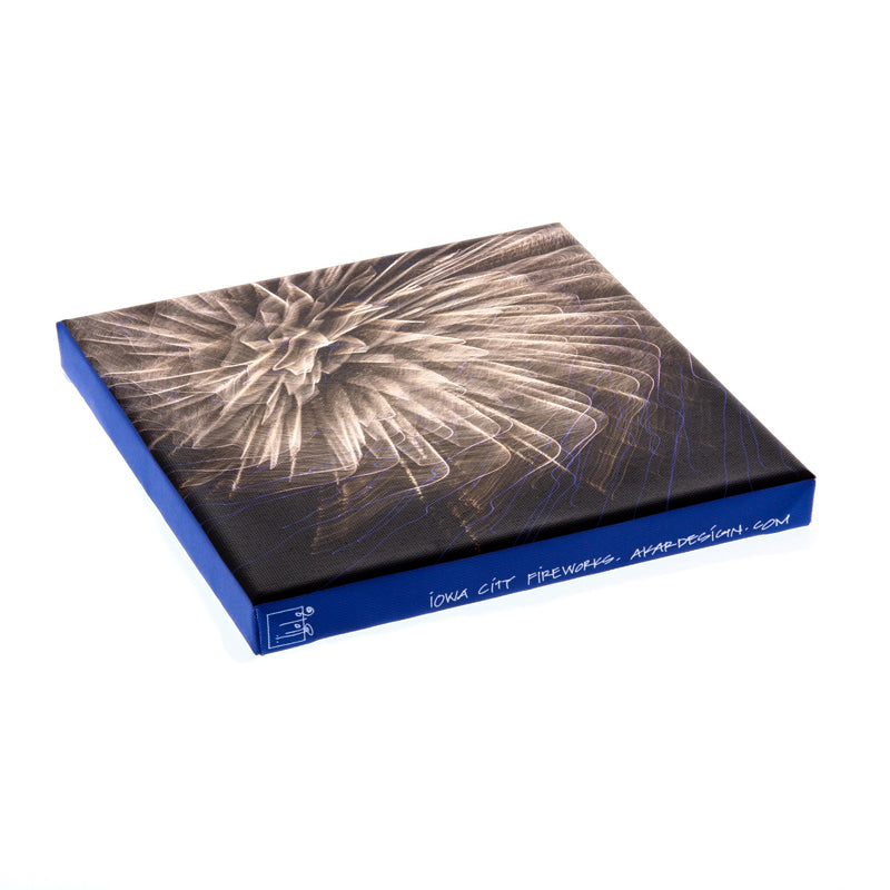 Iowa City Fireworks Canvas Print