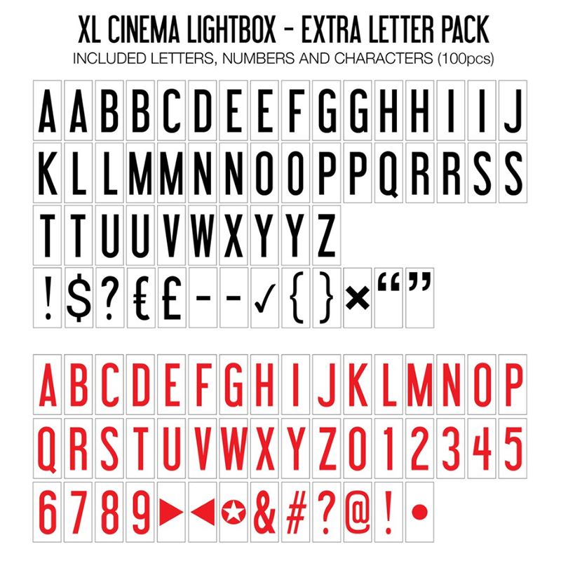 Extra Letter Pack (XL Lightbox)