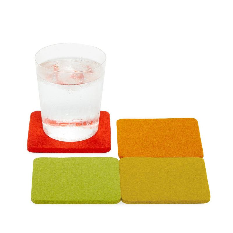 Sunburst Bierfilzl Square Multi-Color Coasters