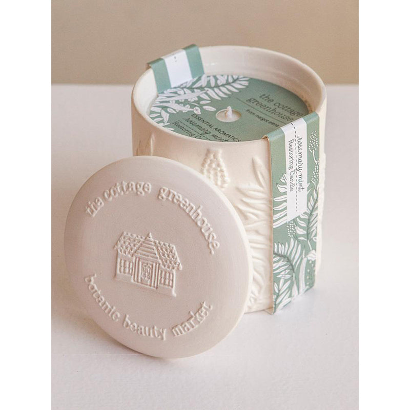 Rosemary Mint Ceramic Candle