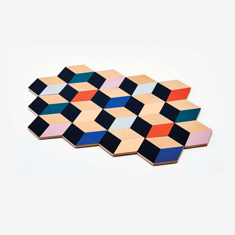 Areaware Table Tiles - Modern Multi