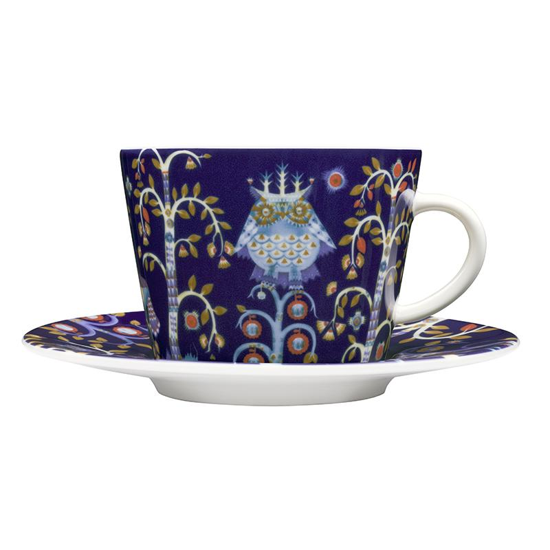 "Taika (meaning ""magic"" in Finnish) inspires imagination and storytelling, letting you choose from a variety of bold and enchanting pieces. The vibrant designs gradually reveal their details and layers to the viewer, mug with saucer, trea cup"