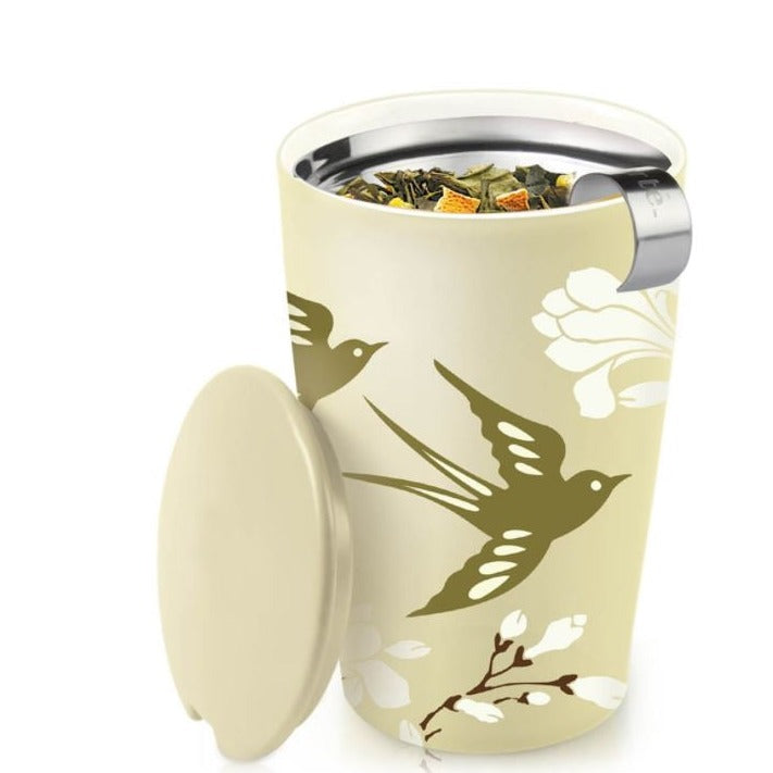 Tea Forte, KATI Steeping Cup & Infuser in Birdsong